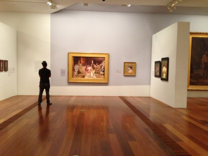 Tom Roberts' classic 'Shearing the Rams' at the National Gallery of Victoria, Federation Square